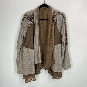 Miss Me layered open front cardigan